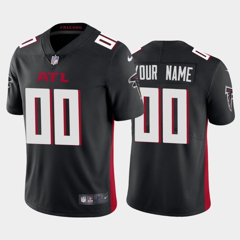 Custom Men's Atlanta Falcons black 2020 new Vapor Limited Nike Jerseys