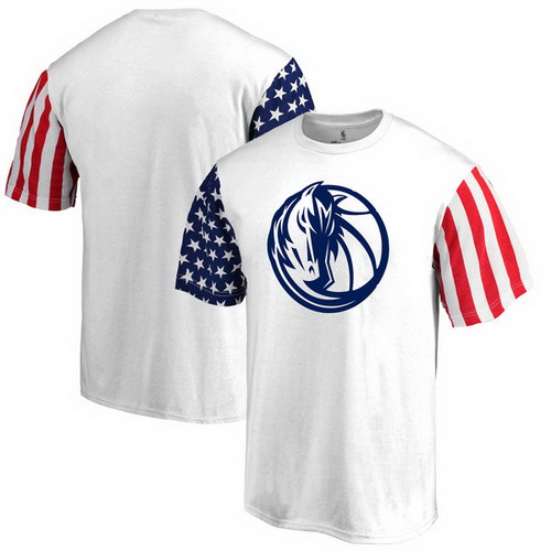 Dallas Mavericks Fanatics Branded Stars & Stripes T-Shirt - White
