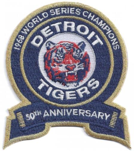 2018 Detroit Tigers 1968 World Series Champions 50th Anniversary Jersey Patch