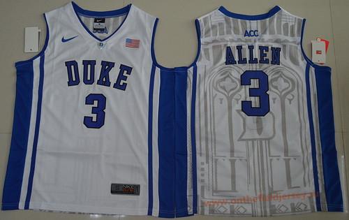 Men's Duke Blue Devils #3 Garyson Allen White College Basketball Nike Swingman Stitched 2017 NCAA Jersey