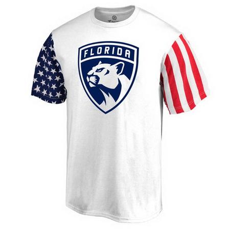 Florida Panthers Fanatics Branded Stars & Stripes T-Shirt - White