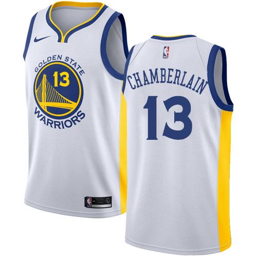 Golden State Warriors #13 Wilt Chamberlain White Nike NBA Home Men's Stitched Swingman Jersey