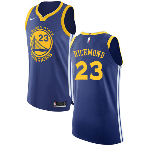 Golden State Warriors #23 Mitch Richmond Royal Blue Nike NBA Road Men's Stitched Swingman Jersey