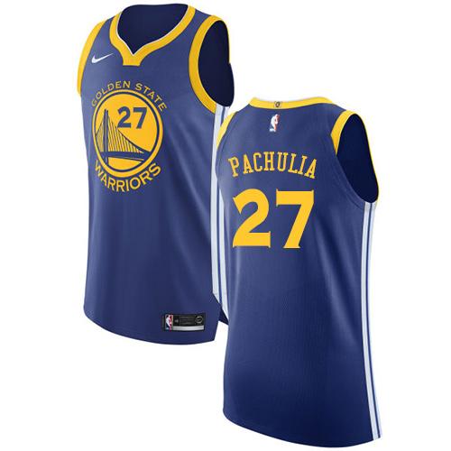 Golden State Warriors #27 Zaza Pachulia Royal Blue Nike NBA Road Men's Stitched Swingman Jersey