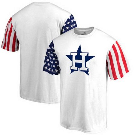 Houston Astros Fanatics Branded Stars & Stripes T-Shirt - White