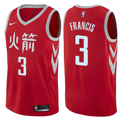 Houston Rockets #3 Steve Francis Red Nike NBA Men's Stitched Swingman Jersey City Edition