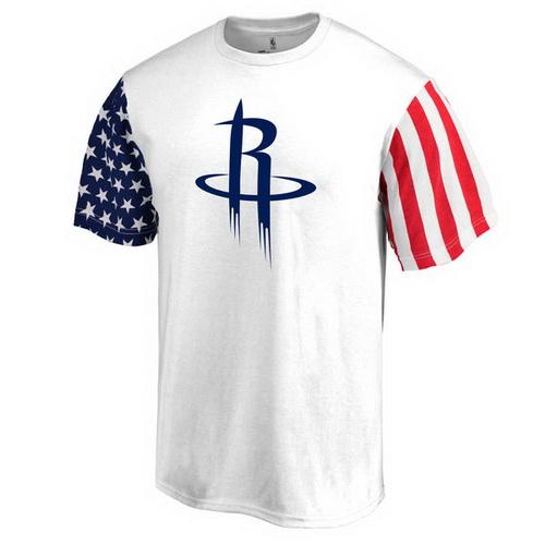 Houston Rockets Fanatics Branded Stars & Stripes T-Shirt - White