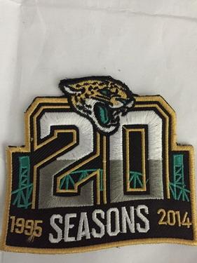 Jacksonville Jaguars 20th Anniversary Patch