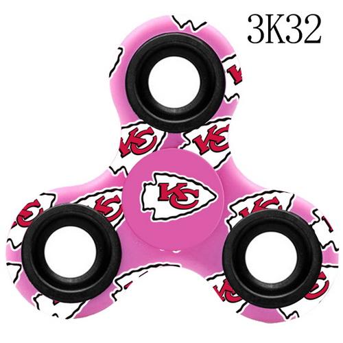 KANSAS CITY CHIEFS Pink Logo Three-Way Fidget Spinner III -3K32