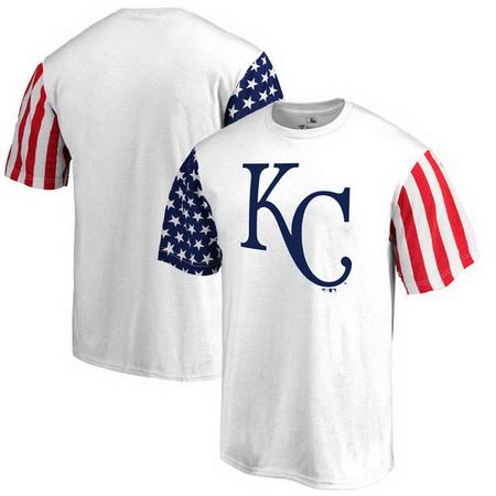 Kansas City Royals Fanatics Branded Stars & Stripes T-Shirt - White