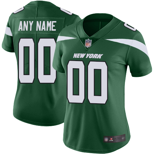 Limited Green Football Home Women's Jersey Customized 2019 New York Jets Vapor Untouchable