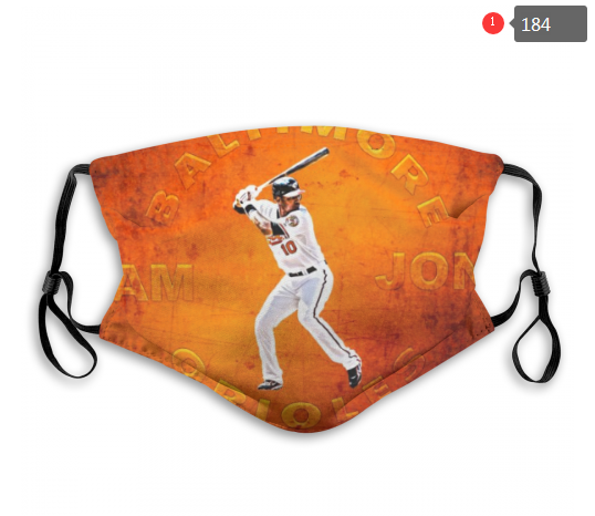 MLB Baseball Team Fashion Dust Mask with Filter  (21)