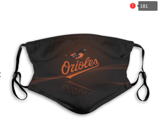 MLB Baseball Team Fashion Dust Mask with Filter  (27)