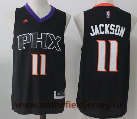 Men's 2017 Draft Phoenix Suns #11 Josh Jackson Black Stitched NBA Adidas Revolution 30 Swingman Jersey