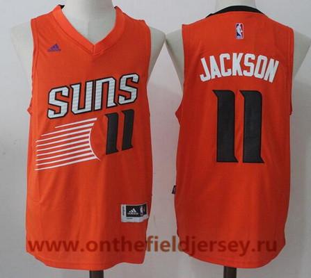 Men's 2017 Draft Phoenix Suns #11 Josh Jackson Orange Stitched NBA Adidas Revolution 30 Swingman Jersey