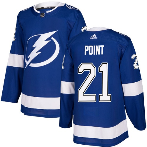 Men's Adidas Tampa Bay Lightning #21 Brayden Point Authentic Royal Blue Home NHL Jersey