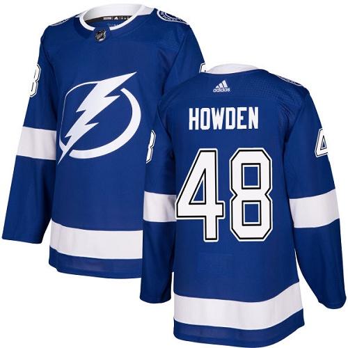 Men's Adidas Tampa Bay Lightning #48 Brett Howden Authentic Royal Blue Home NHL Jersey