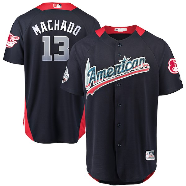 Men's American League Manny Machado Majestic Navy 2018 MLB All-Star Game Home Run Derby Player Jersey