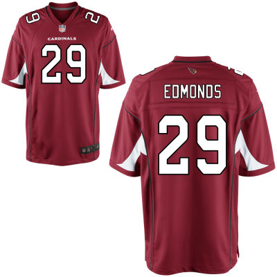 Men's Arizona Cardinals #29 Chase Edmonds Red Team Color Stitched NFL Nike Game Jersey