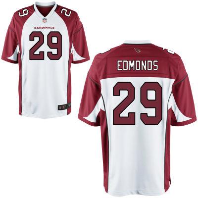 Men's Arizona Cardinals #29 Chase Edmonds White Road Stitched NFL Nike Game Jersey