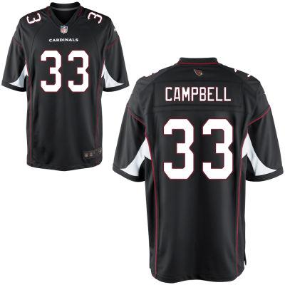 Men's Arizona Cardinals #33 Chris Campbell Black Alternate Stitched NFL Nike Game Jersey