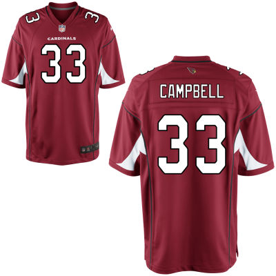 Men's Arizona Cardinals #33 Chris Campbell Red Team Color Stitched NFL Nike Game Jersey