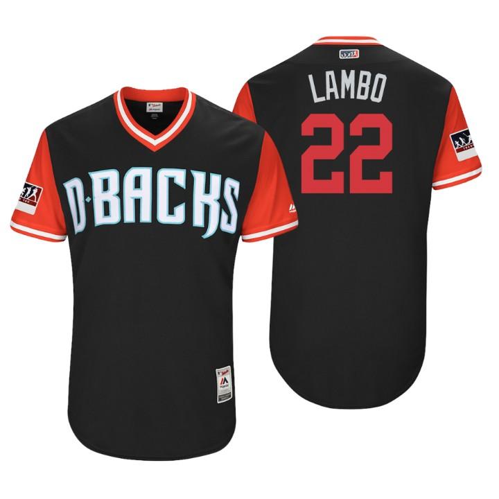 Men's Arizona Diamondbacks Authentic Jake Lamb #22 Black 2018 LLWS Players Weekend Lambo Jersey