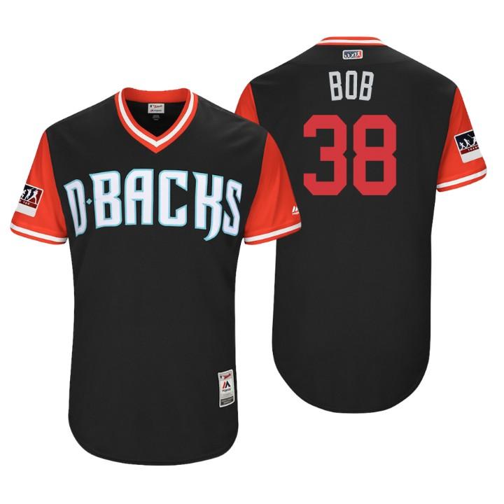 Men's Arizona Diamondbacks Authentic Robbie Ray #38 Black 2018 LLWS Players Weekend Bob Jersey