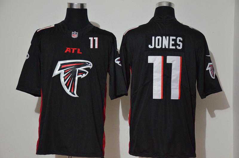 Men's Atlanta Falcons #11 Julio Jones Black 2020 Big Logo Number Vapor Untouchable Stitched NFL Nike Fashion Limited Jersey