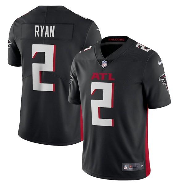 Men's Atlanta Falcons #2 Matt Ryan Black New Vapor Untouchable Limited Nike Jersey