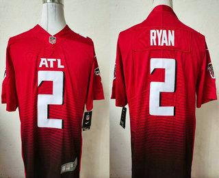 Men's Atlanta Falcons #2 Matt Ryan Red 2020 NEW Vapor Untouchable Stitched NFL Nike Limited Jersey