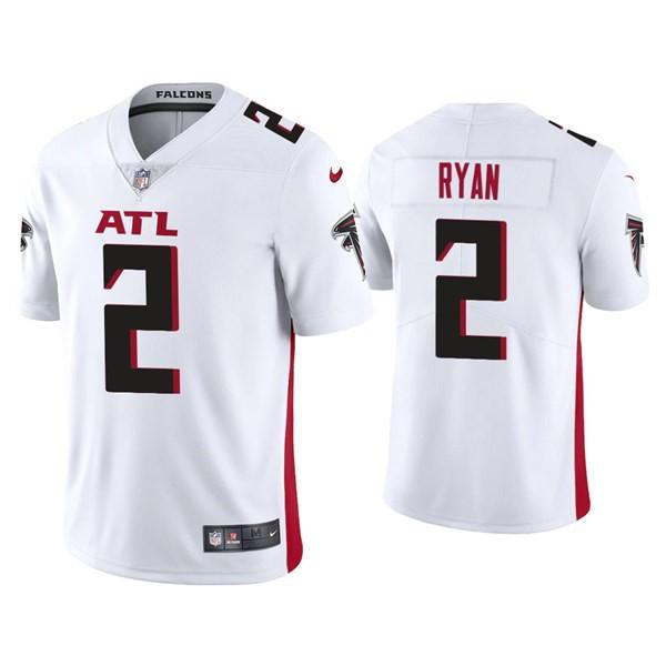 Men's Atlanta Falcons #2 Matt Ryan White New Vapor Untouchable Limited Nike Jersey