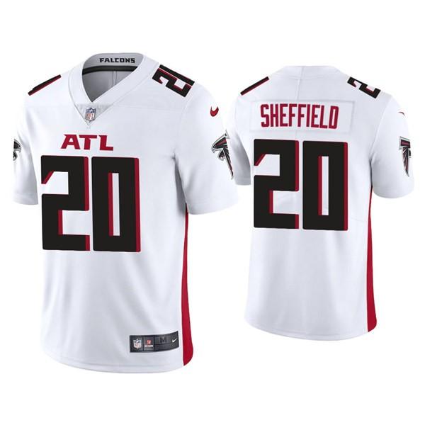 Men's Atlanta Falcons #20 Kendall Sheffield White New Vapor Untouchable Limited Nike Jersey
