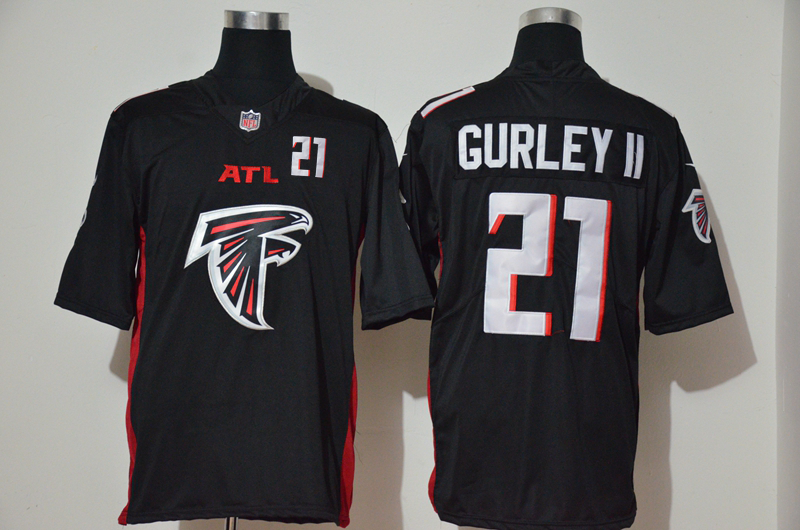 Men's Atlanta Falcons #21 Todd Gurley II Black 2020 Big Logo Number Vapor Untouchable Stitched NFL Nike Fashion Limited Jersey