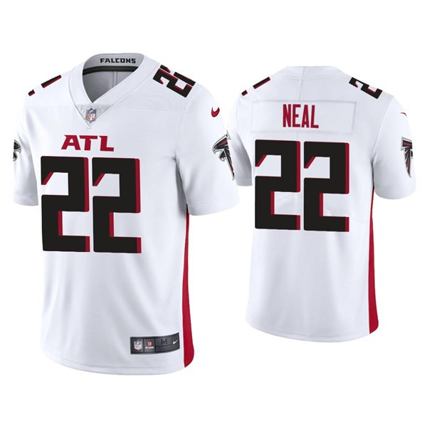 Men's Atlanta Falcons #22 Keanu Neal White New Vapor Untouchable Limited Nike Jersey