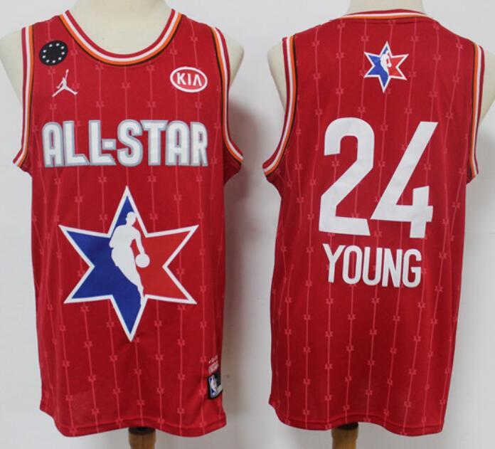 Men's Atlanta Hawks #24 Trae Young Red Jordan Brand 2020 All-Star Game Swingman Stitched NBA Jersey