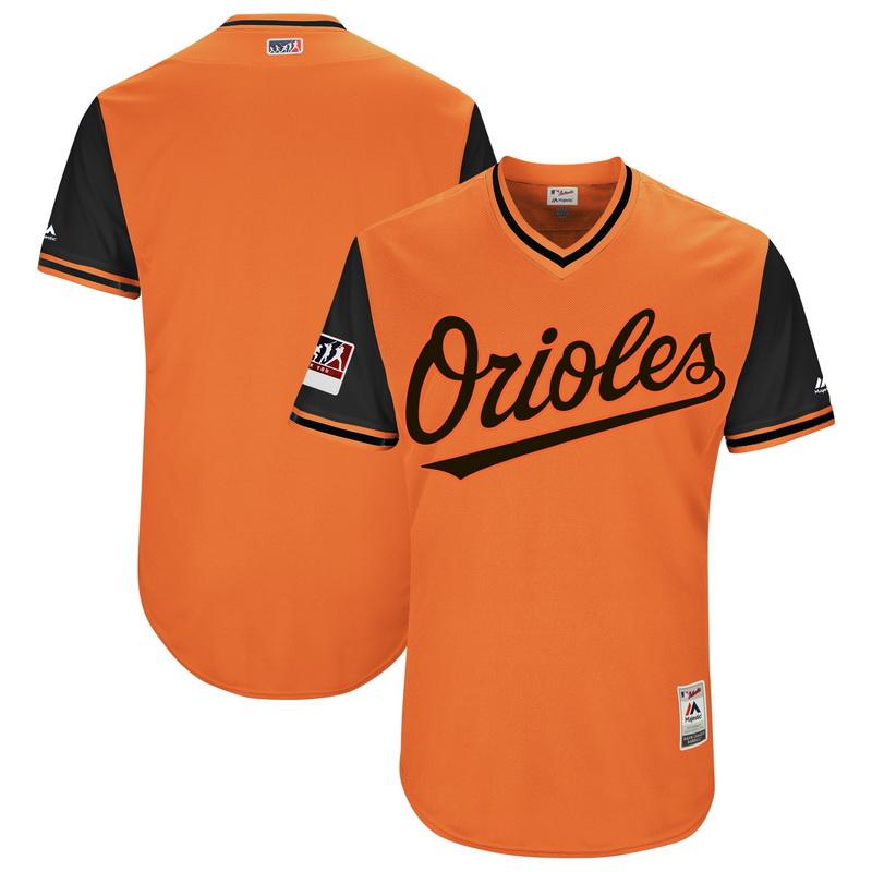 Men's Baltimore Orioles Majestic Orange-Black 2018 Players' Weekend Authentic Team Jersey