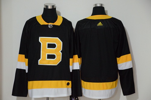 Men's Boston Bruins Blank Black Throwback Adidas Stitched Hockey Jersey
