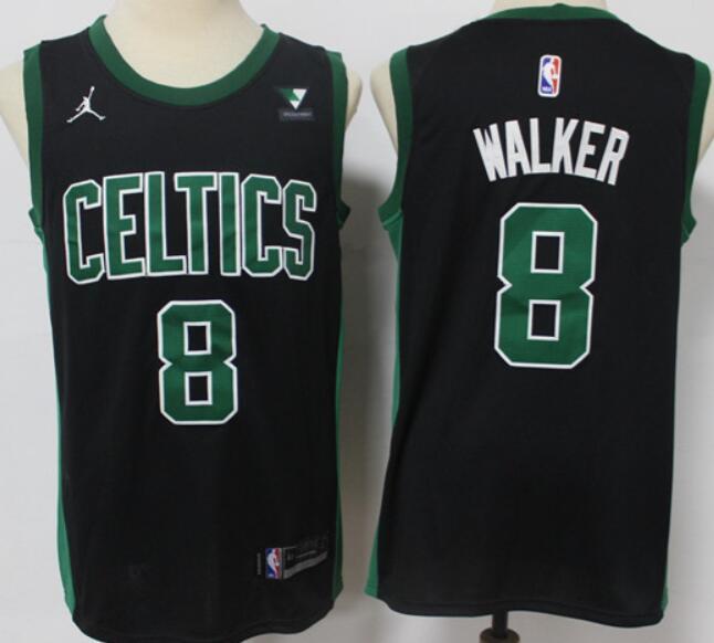 Men's Boston Celtics #8 Kemba Walker Black 2021 Brand Jordan Swingman Jersey With the Sponsor Logo