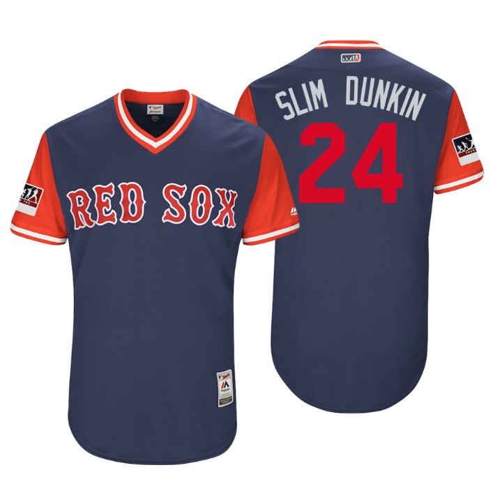 Men's Boston Red Sox Authentic David Price #24 Navy 2018 LLWS Players Weekend Slim Dunkin Jersey