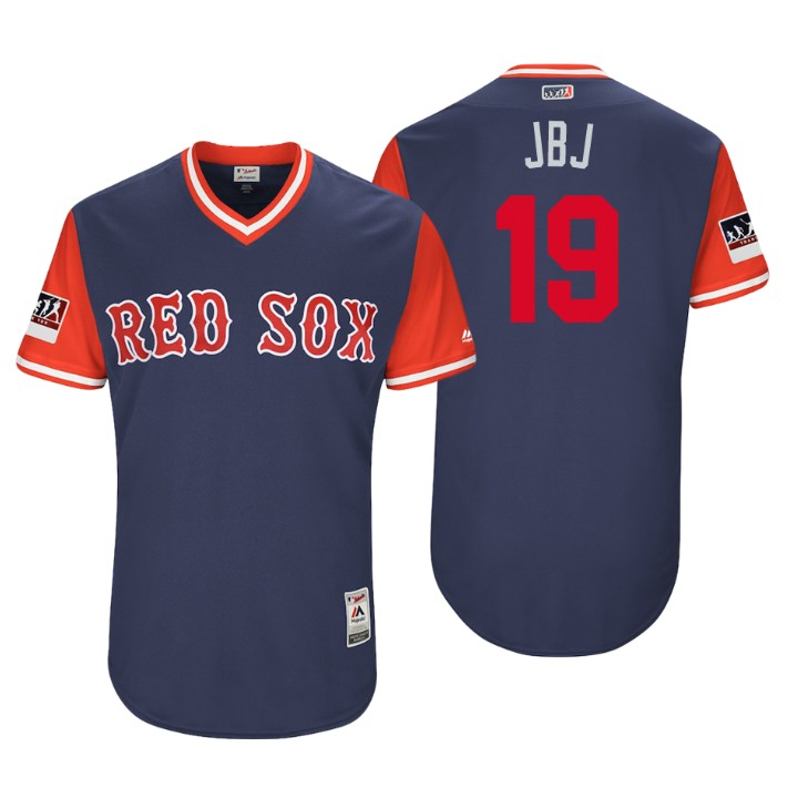 Men's Boston Red Sox Authentic Jackie Bradley Jr. #19 Navy 2018 LLWS Players Weekend JBJ Jersey