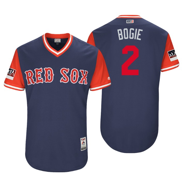 Men's Boston Red Sox Authentic Xander Bogaerts #2 Navy 2018 LLWS Players Weekend Bogie Jersey
