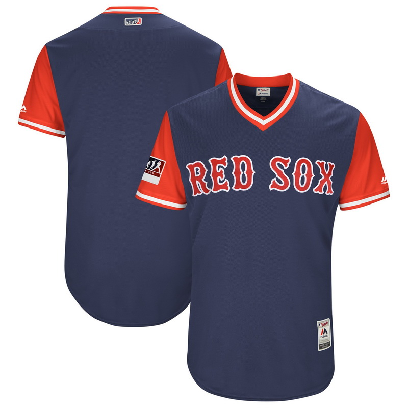 Men's Boston Red Sox Majestic Navy-Red 2018 Players' Weekend Authentic Team Jersey