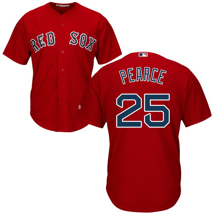 Men's Boston Red Sox Majestic Red Cool Base 25 Steve Pearce Jersey