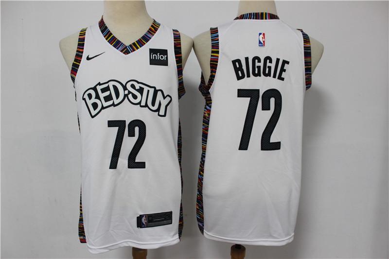 Men's Brooklyn Nets #72 Biggie White 2020 City Edition Nike Swingman Jersey