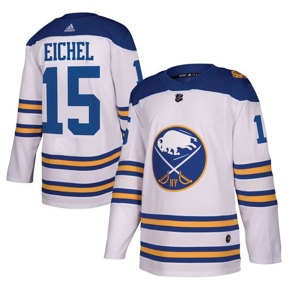 Men's Buffalo Sabres Jack Eichel adidas White 2018 Winter Classic Authentic Player Jersey