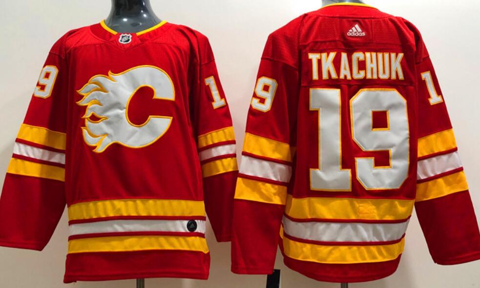 Men's Calgary Flames #19 Matthew Tkachuk Home Red 2020-21 Adidas Stitched NHL Jersey