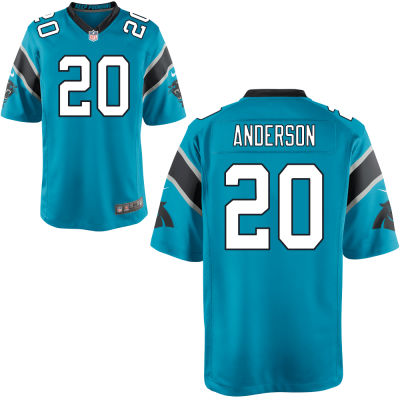 Men's Carolina Panthers #20 C. J. Anderson Light Blue Alternate Stitched NFL Nike Game Jersey