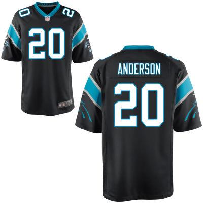 Men's Carolina Panthers #20 C. J. Anderson Black Team Color Stitched NFL Nike Game Jersey