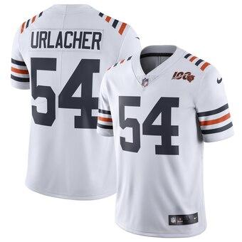 Men's Chicago Bears Brian Urlacher Nike White 2019 100th Season Alternate Classic Retired Player Limited Jersey